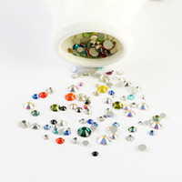 Wholesale Mixed size color gram bag D Nail Art Decorations Non Hotfix Flat back crystal Rhinestones for nails DIY