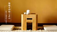 bamboo wood furniture - ORANGE CREATIVE STYLE BATHROOM BAMBOO FURNITURE MULTI FUNCTION STORAGE STOOL Japanese Style Leisure Tea Table Stool SOLID WOOD STOOL