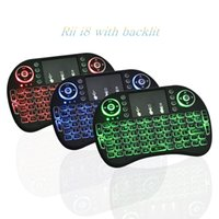 Wholesale 10X Rii I8 Mini Keyboard Wireless Backlight RED Green Blue Light Air Mouse Remote With Touchpad Handheld For T95 M8S S905X TV BOX JP