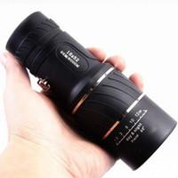 Cheap Wholesale-Black Single Focus 16x52 Zoom Monocular Telescope Optic Lens Travel Spotting Scope HD Monoculars Telescopes Outdoor Device