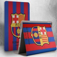 barcelona covers - Tablet case for ipad world cup football slim leather cover new arrive FCB barcelona cases