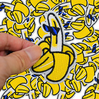 banana patch - Diy bananas patches for clothing iron embroidered patch applique iron on patches sewing accessories badge stickers for clothes