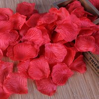 Wholesale In Stock Pieces Silk Red Rose Flower Petals For Wedding Table Decorations Event Party Weddings Accessories