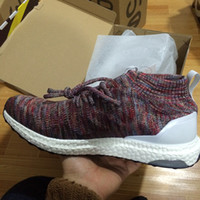 Unisex Cotton Fabric PVC with box2017 Men and Women Multicolor Kith Ultra Boost Mid Uncaged Running Shoes Outdoor Sports Sneakers for Men and Women Primeknit Runners