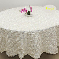 Wholesale White color m Wedding Round Table Cloth Overlays D Rose Petal Tablecloths for Banquet Wedding Party Decoration pink blue red