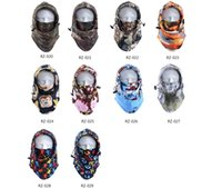 Wholesale Ten Fashion Printed Adjustable Thermal Fleece Balaclava Winter Outdoor Sports Full Face Mask