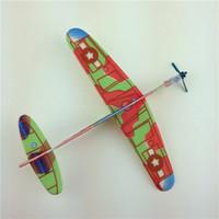 Planeadores de bricolaje Baratos-2017 nuevos niños cerebro juego juguetes Planador modelo DIY Mano lanza modelo de aviones para juguetes de bebé C2041
