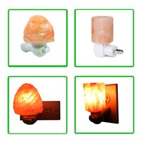 Wholesale New Arrival Salt Lamp Mini Hand Carved Natural Crystal Himalayan Wall Night Lights Original stone and cylinder shaped