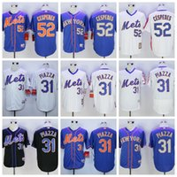 Wholesale 2017 Men New York Mets jersey Yoenis Cespedes Mike Piazza Embroidery Baseball Jerseys Best quality Mix Order