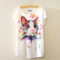 T-shirt femmes 2016 style Harajuku T-shirt femmes T-shirt imprimé T-shirts imprimés