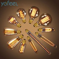 Wholesale Antique Vintage Retro Edison Light Bulbs V V E27 W Incandescent Light Bulbs G80 G95 A19 T10 T45 T185 T300 ST64