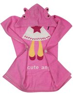 Wholesale Baby Hooded Towel Cartoon Animal Face Design Infant Bathrobe Swimming Pool Beach Robe Cute Towels for Boy Girl Organic Premium Cotton