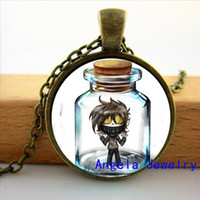 american jeff - New Fashion Hot Glass Dome Jewelry Jeff And Jane The Killer Pendant Glass Cabochon Necklace