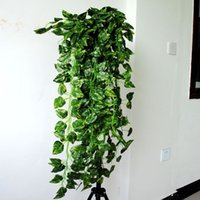 Wholesale 90cm Artificial Hanging Vine Fake Green Leaf Garland Plant Home Decoration inch length style for choose