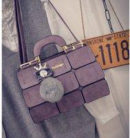 Wholesale Fashion New Spring And Summer Tide Bag Car Suture Boston Hair Ball Portable Satchel Bag