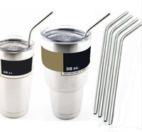 Wholesale 304 Stainless Steel Straw Metal Drinking Straw Beer Juice Straws Kit Fits Yeti Tumbler Rambler Cups