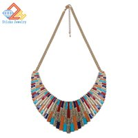 best singapore - Get Amazing colorful fashion s best selling large enamel collar necklace collar declare Christmas gifts for women