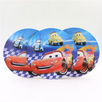Wholesale Cars Happy Baby Shower Birthday Party Cartoon Theme Dishes Kids Favors Paper Plates Decoration Supplies Tableware
