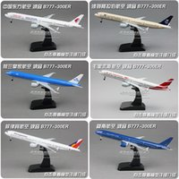 Wholesale Metal alloy aireplane model Eva Air Boeing B777 ER each country cm1 plane mould American thailand sigaport