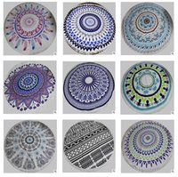 Wholesale Indian Hippie Beach Towels Mandala Bohemian Tassel Cotton Thick Round Hippie Printed Tapestry Towel Wall Hanging Yoga Picnic Mat Blanket
