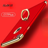 Wholesale for iphone plus Anti fall scrub hard shell ring bracket new case for iphone plus Shockproof Armor Plated Frame Back Cover