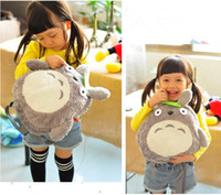 Wholesale New Cute My Neighbor Totoro Backpack Shoulder School Bag Soft Plush Stuffed