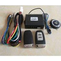 Sistema de alarma a distancia un coche España-PKE Sistema de alarma de coche Sistema de botón sin llave de entrada Sistema Smart Auto Sistema remoto Motor Start Stop 2 Controladores remotos