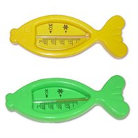 baby shower fish - Lovely Plastic Baby bath termometer shower thermometer FISH shape Hot water temperature meter scales cute