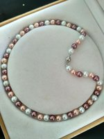 Wholesale gt gt gt Charming MM Multicolor Akoya Shell Pearl Necklace AAA quot k21