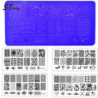 Wholesale x NEW Flower Lace Stamping Plates Nail Art Image Stamp Templates Stencils Acrylic x6cm Plate DIY Polish Print Decor XYL01
