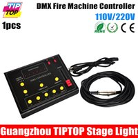 Wholesale Gigertop TP D33 DMX Fire Machine Controller Box Mini Size Color Switch Button DMX Out Connector Address Setting V V