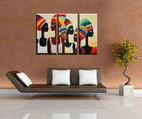 african handicraft - Pure Handicrafts African Women Modern Abstract Portrait Art Oil Painting Home Wall Decor On Canvas in custom sizes