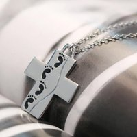best mens necklace - Trendy love children best gift Necklace Women Men fashion Top Popular cross with baby footprints mens jewelry