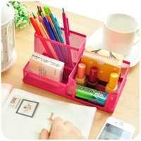 Wholesale Creative Simple Personality Office Stationery Holder Large Capacity Pen Holder Student Fashion Metal Bucket