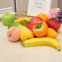 artificial light photography - 10pcs Artificial fruit and vegetablesfake fruit foam home decoration kitchen cabinet photography props gift