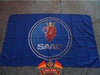 Wholesale Saab new cars logo flag flag king brand can custom