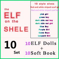big book shelf - DHL Style Christmas Elf Doll toys With Elves Xmas dolls and Soft Books on the shelf For Kids Christmas Gift