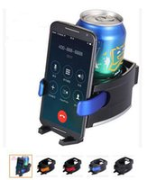 Wholesale 2 in cup and phone holder Universal Car Truck Vehicle Air Outlet Folding Drink Bottle Cup Holder Stand