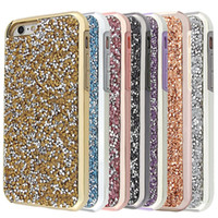 achat en gros de rhinestone case-Premium bling 2 en 1 diamant de luxe rhinestone scintillement cas de téléphone couverture pour iphone 7 5 6 6s plus cas Forfait disponible