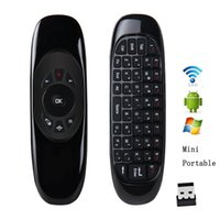 Wholesale C120 Portable G Wireless Remote Control QWERTY keyboard Controller Air Mouse Aixs Sensor Air Mouse For KODI Smart Android TV Box