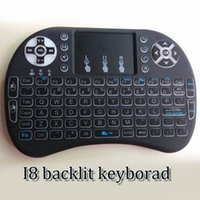 Wholesale 2016 Wireless backlight Keyboard rii i8 keyboards Fly Air Mouse Multi Media Remote Control Touchpad Handheld for MXQ s805 s905