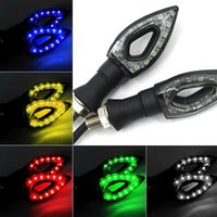 Wholesale 12V Universal Flashing Motorcycle LED Turn Signal Light High quality Led Indicator Light Blinker Light Bike Lamp