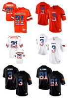 Wholesale 2017 US Flag Men s Oklahoma State Cowboys Barry Sanders Weeden Justin Blackmon Pro Combat College Football Throwback Jersey