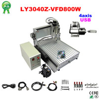 Wholesale CE approved USB port LY CNC Z VFD W axis CNC Router Engraver Engraving Drilling and Milling Machine with ball screw