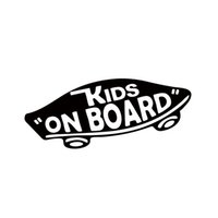 baby car stickers - Internal Kids On Board Baby On Board Vans Vinyl Decal Off The Wall Baby Skateboard Car Styling Funny Car Sticker For Window