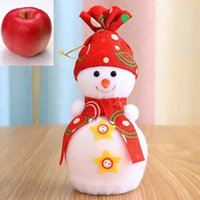 apple fruit variety - Christmas Apple bag Fruit sets snowman style contain Variety Colour can select festival decoration