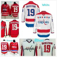 Wholesale Mens Nicklas Backstrom Embroidered Hockey Jersey Red White
