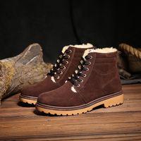 Wholesale 2016 new autumn and winter men s Martin boots plus velvet plus cotton tooling boots retro matte British high shoes