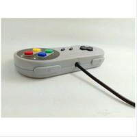 Precio de Joystick usb-Venta al por mayor de juegos retro para SNES USB cableado Classic GamePad joystick controlador para PC de Windows Seis botones digitales ZY-PS3-17