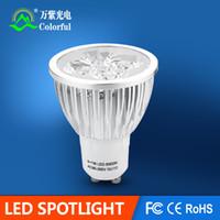 Wholesale W W W LED Spotlight GU10 V LED Bulbs high brightness Condenser type CE RoHS LM